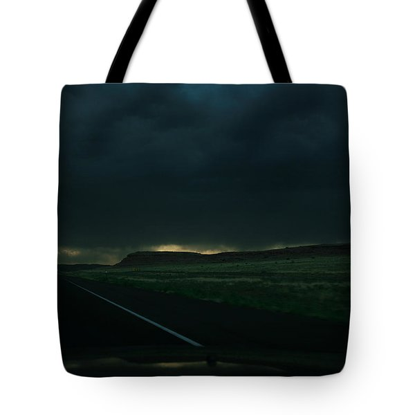 Driving Rain Number One Tote Bag