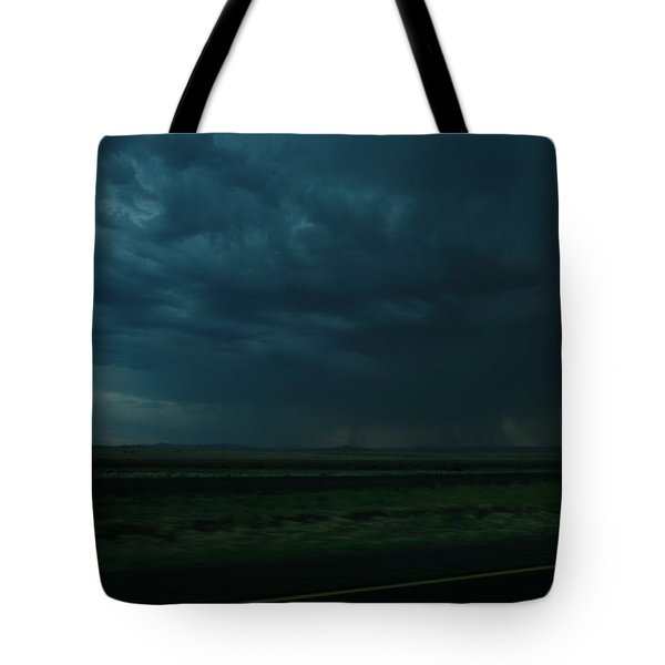 Tote Bag featuring the photograph Driving Rain Number Two by Lon Casler Bixby