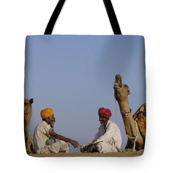 Dromedary Camelus Dromedaries Pair Tote Bag by Pete Oxford