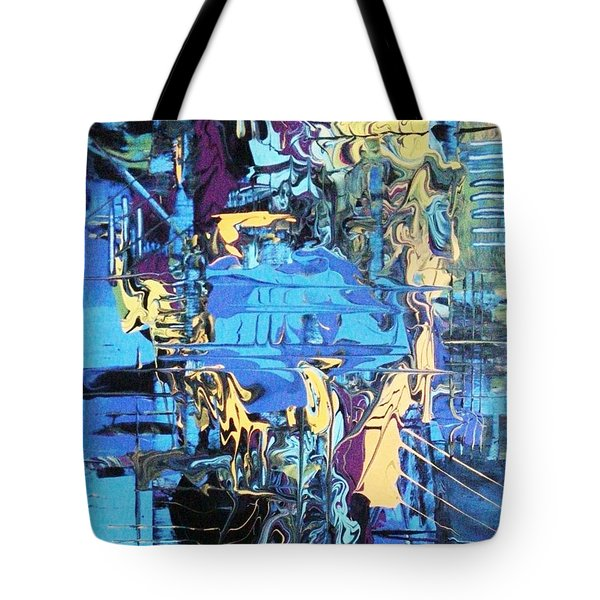 Drowning In The Blues Tote Bag