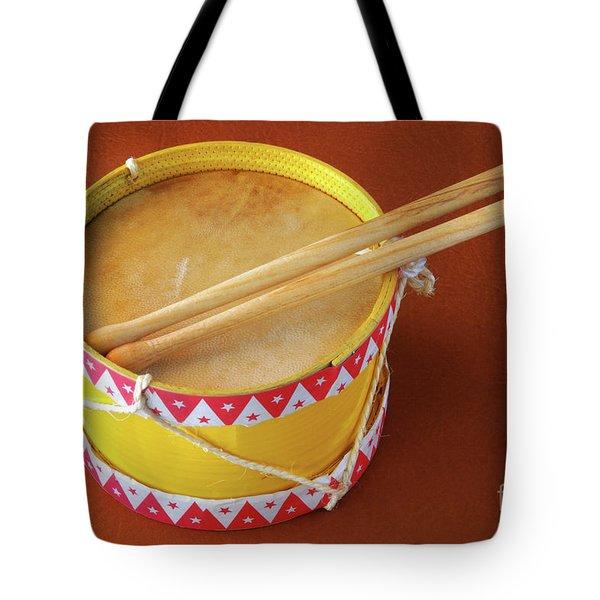 Drum Toy Tote Bag by Carlos Caetano
