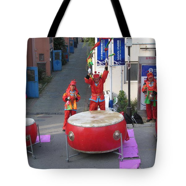 Drumming For The Wedding Tote Bag by Alfred Ng
