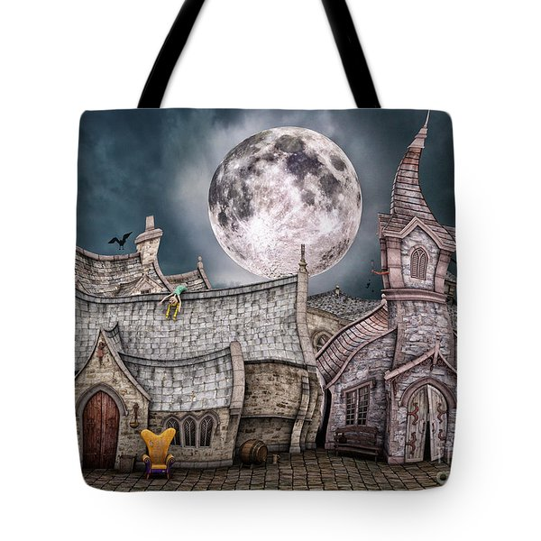 Drunken Village Tote Bag by Jutta Maria Pusl