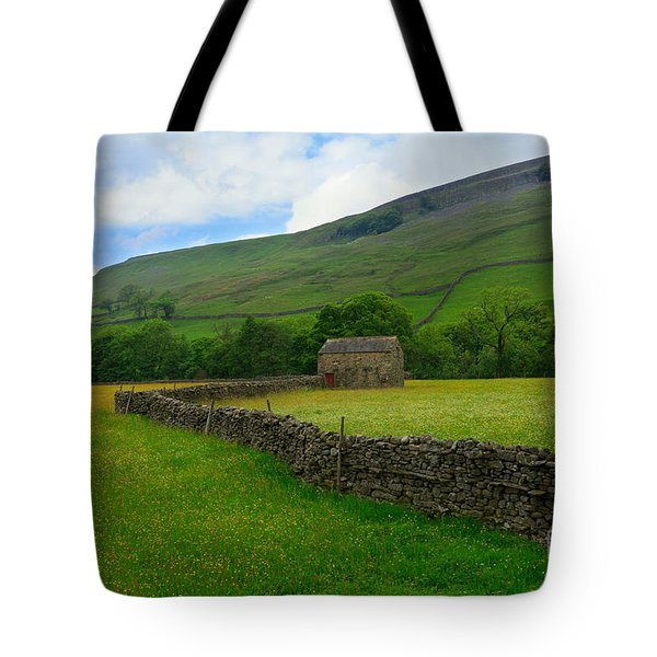 Dry Stone Walls And Stone Barn Tote Bag by Louise Heusinkveld