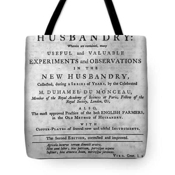 Du Monceau: Title Page Tote Bag by Granger