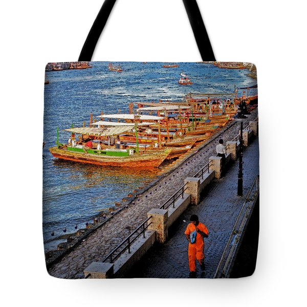 Dubai Water Taxis Tote Bag by First Star Art