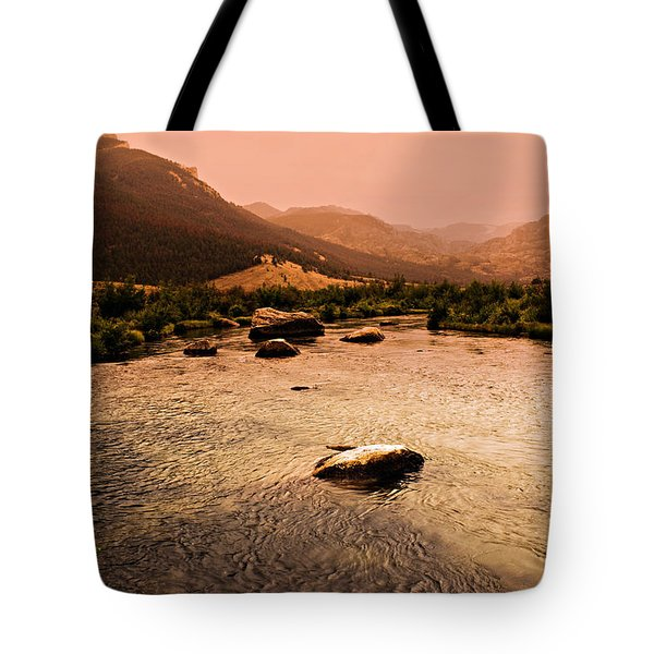Dubois Sunset Tote Bag by Marty Koch