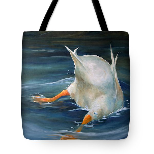 Duck Butt Tote Bag by Mary Sparrow