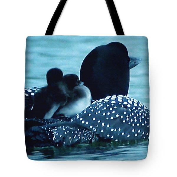 Duck Family Joy In The Lake  Tote Bag