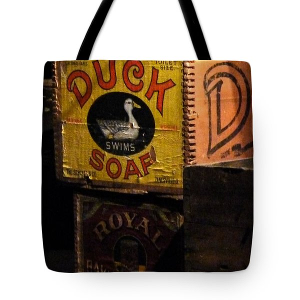 Tote Bag featuring the photograph Duck Soap by Newel Hunter