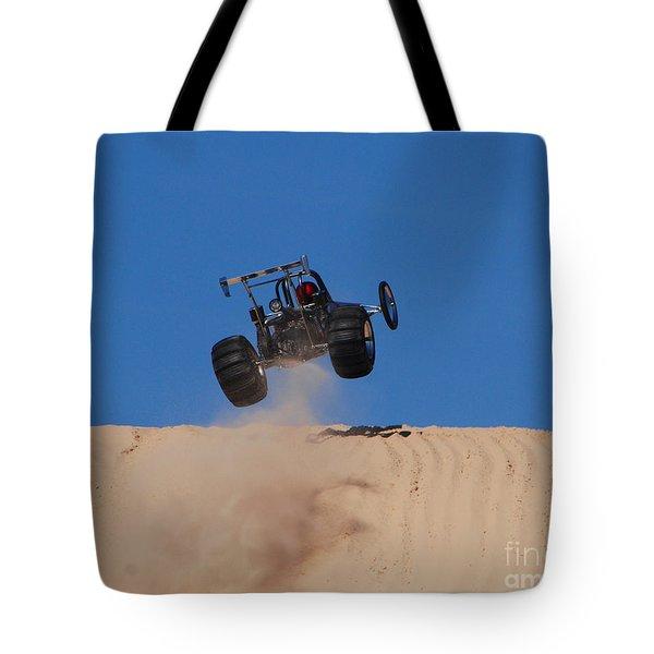 Dune Buggy Jump Tote Bag