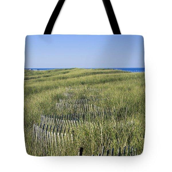 Dune Fence Tote Bag by John Greim