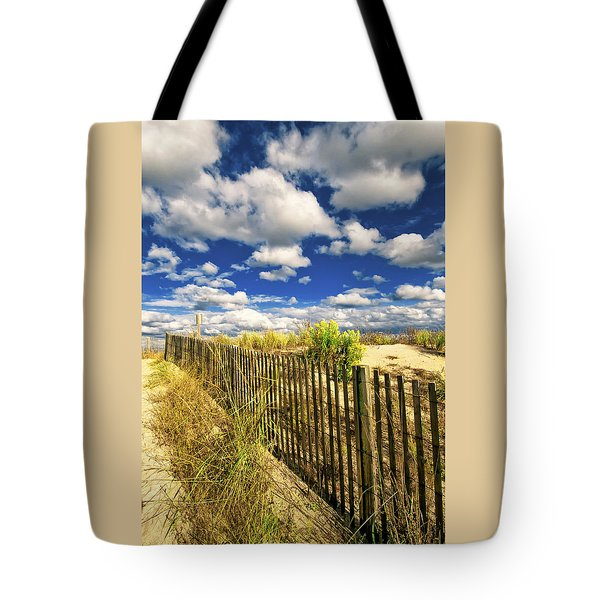 Tote Bag featuring the photograph Dune Fence Me In by Jim Moore