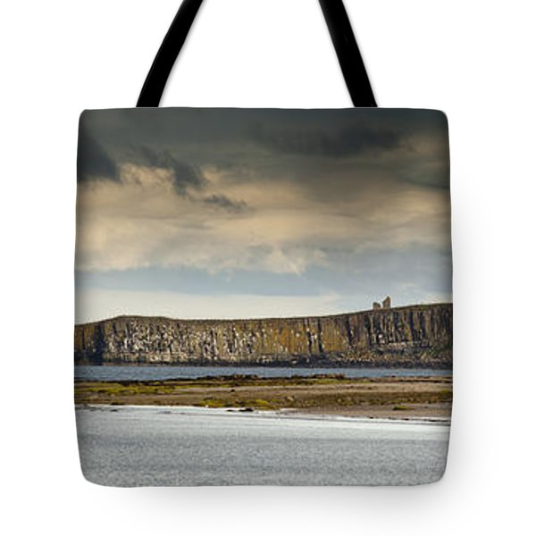 Dunstanburgh Castle On A Hill Under A Tote Bag by John Short