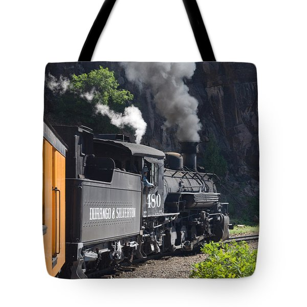 Durango And Silverton Historic Train Tote Bag by Stuart Wilson and Photo Researchers