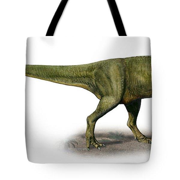 Duriavenator Hesperis, A Prehistoric Tote Bag by Sergey Krasovskiy