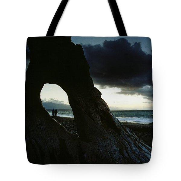 Dusk At Dungeness Tote Bag by Rick Frost