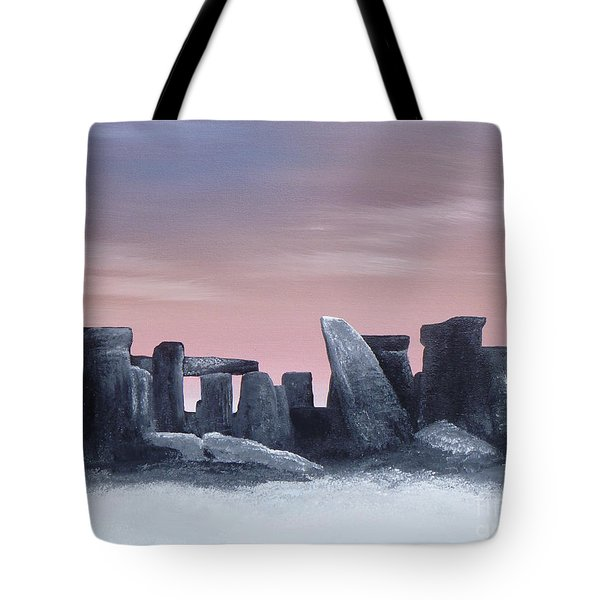 Dusk On The Winter Solstice At Stonehenge 1877 Tote Bag by Alys Caviness-Gober