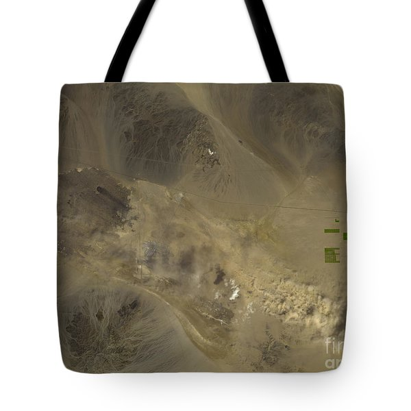 Dust Storm In Southern California Tote Bag by Nasa