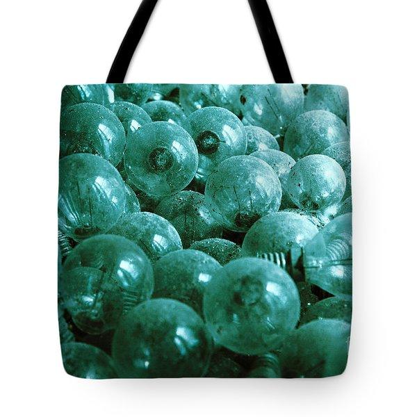Dusty Light Bulbs Tote Bag by Gaspar Avila