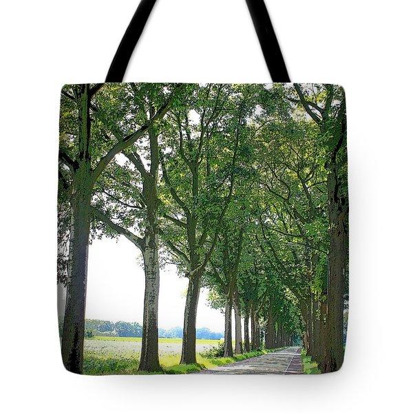 Dutch Road - Digital Painting Tote Bag by Carol Groenen