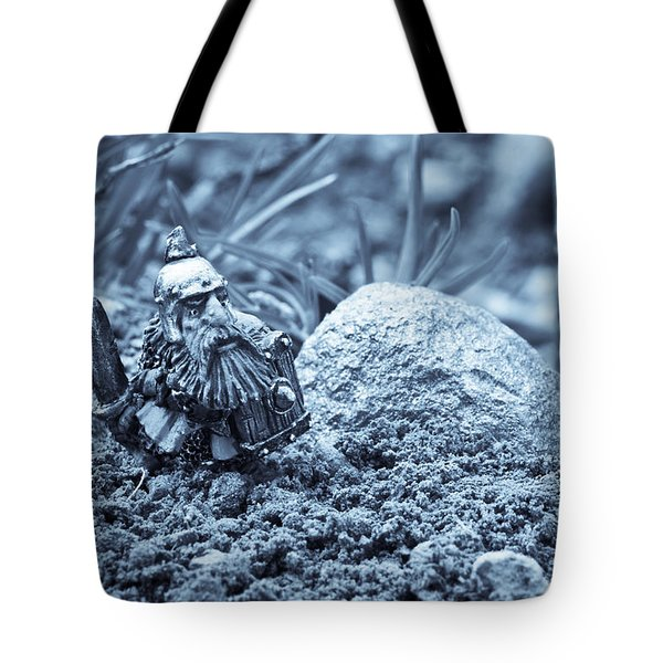Dwarf Lost In The Enchanted Forest Tote Bag by Marc Garrido