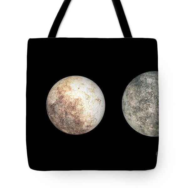Dwarf Planets Ceres, Pluto, And Eris Tote Bag by Walter Myers
