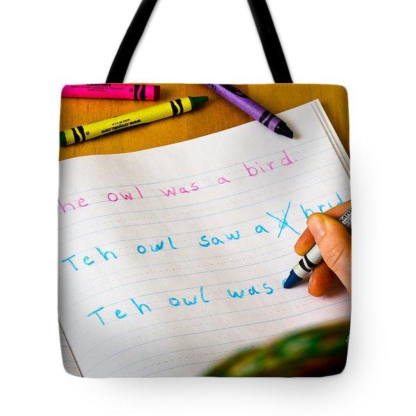 Dyslexia Testing Tote Bag by Photo Researchers Inc