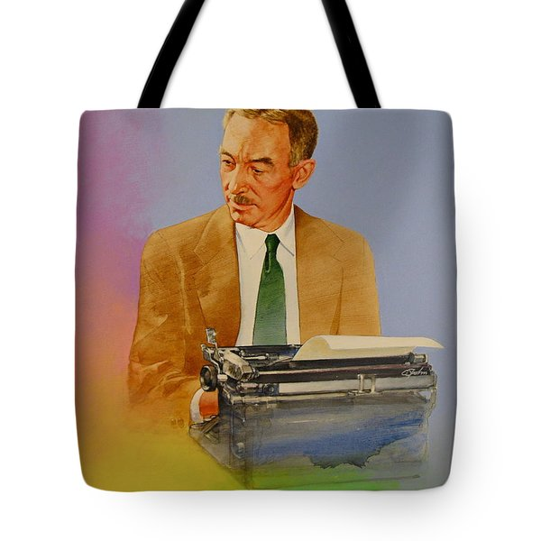 Tote Bag featuring the painting E B White by Cliff Spohn