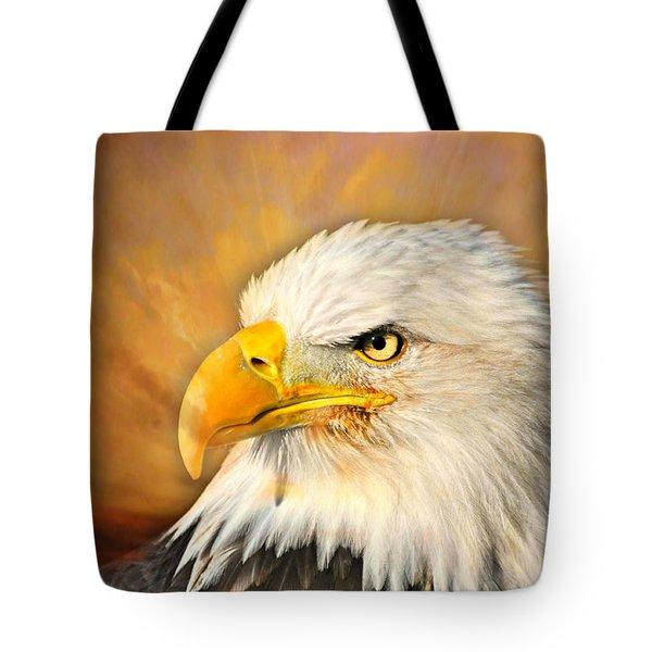 Eagle Burst Tote Bag by Marty Koch