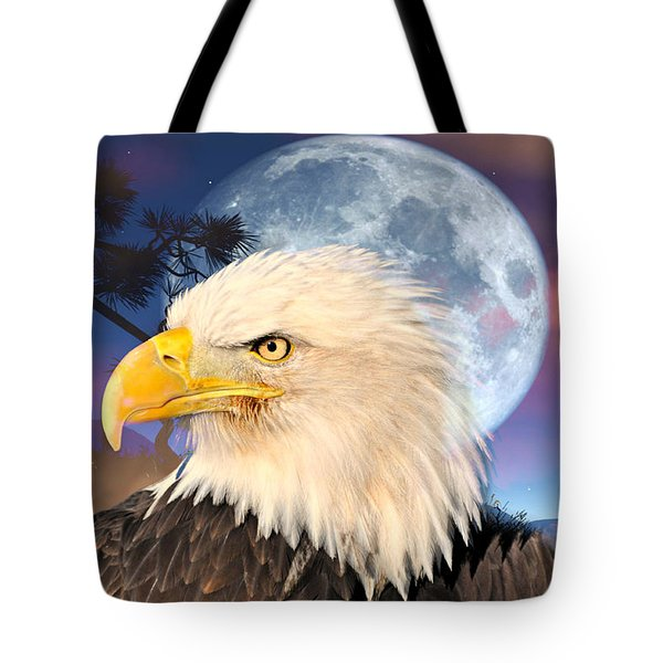 Eagle Moon Tote Bag by Marty Koch