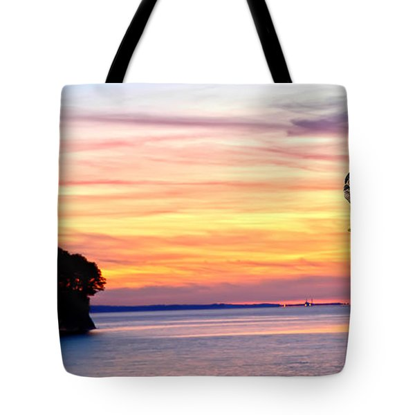 Tote Bag featuring the photograph Eagle Sunrise by Randall Branham