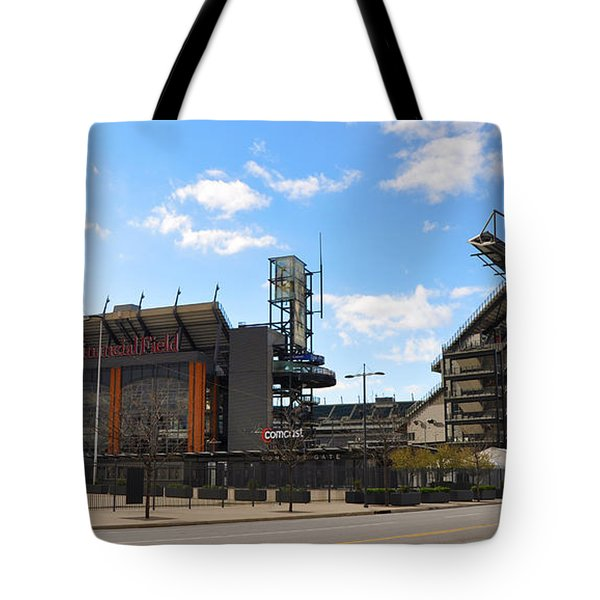 Eagles - The Linc Tote Bag by Bill Cannon