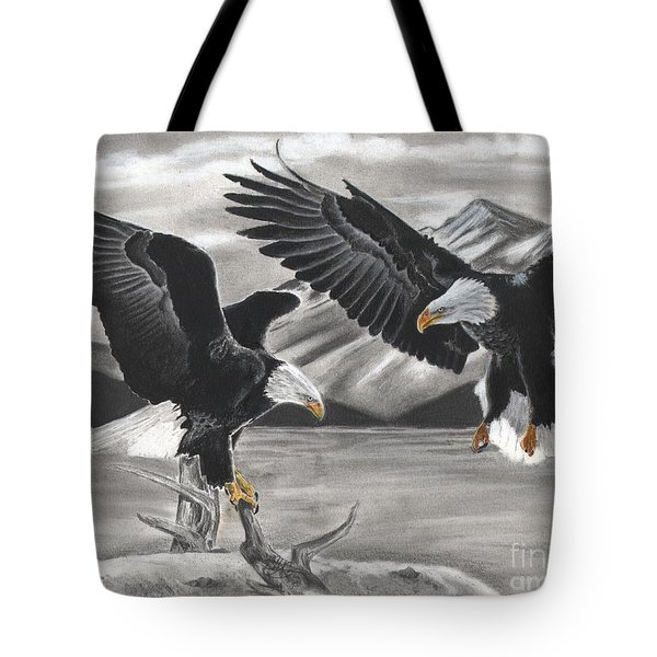 Eagles Tote Bag by Christian Conner
