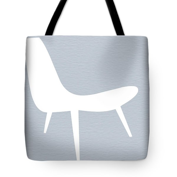 Eames White Chair Tote Bag by Naxart Studio