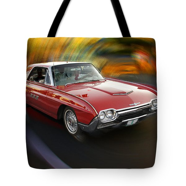 Early 60s Red Thunderbird Tote Bag