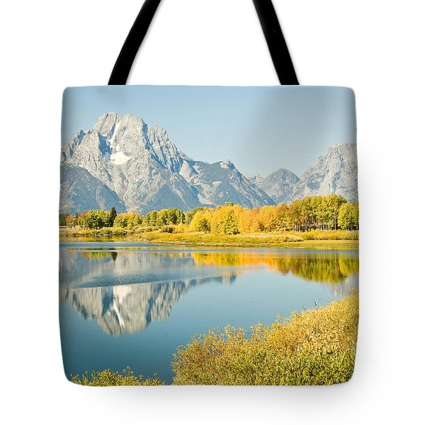 Early Autumn At Oxbow Bend Tote Bag