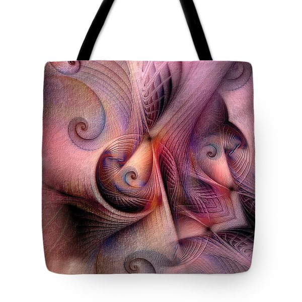 Tote Bag featuring the digital art Early Influences by Casey Kotas