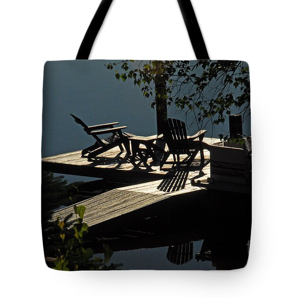 Early Morning At The Lake Tote Bag by Cindy Manero