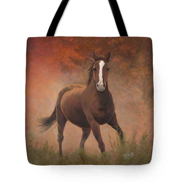 Tote Bag featuring the painting Early Morning Light by Tammy Taylor
