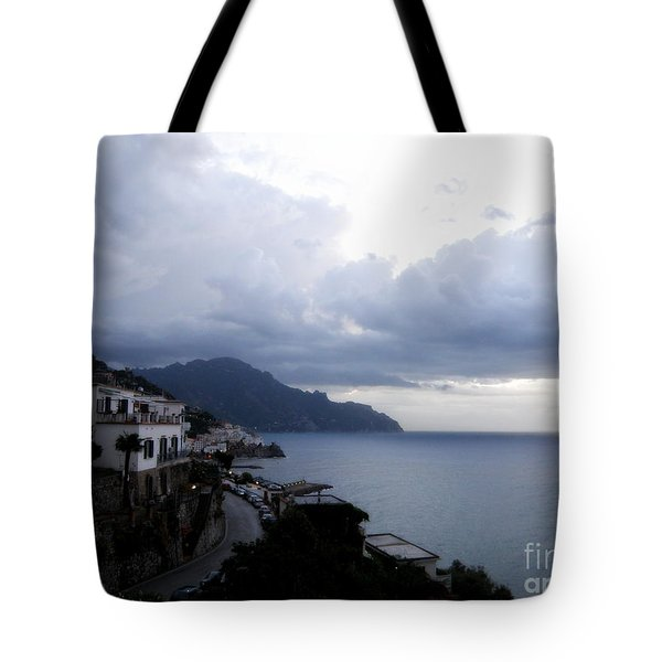 Early Morning View Of Amalfi From Santa Caterina Hotel  Tote Bag by Tanya  Searcy