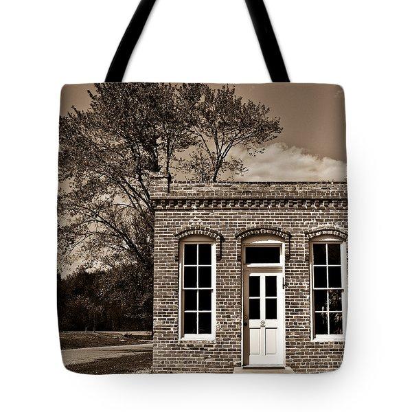 Early Office Building Tote Bag by Douglas Barnett