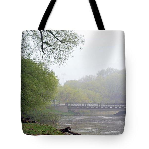 Tote Bag featuring the photograph Early Spring Morning Fog by Kay Novy
