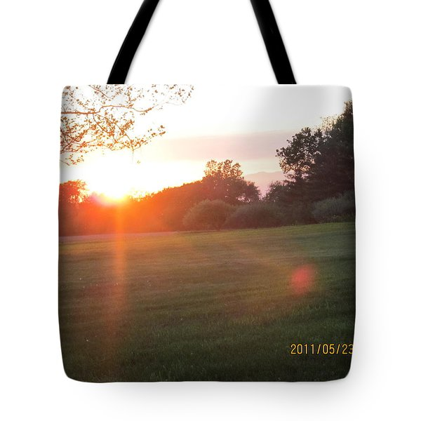 Tote Bag featuring the photograph Early Spring Sunset by Tina M Wenger
