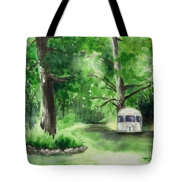 Tote Bag featuring the painting Early Summer At The Geddes Farm --ann Arbor Michigan by Yoshiko Mishina