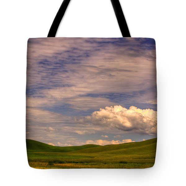 Early Summer Wheat In The Palouse Tote Bag by David Patterson