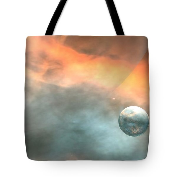 Tote Bag featuring the digital art Earth by John Pangia