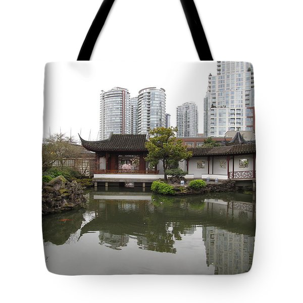 east meets west in Vancouver Tote Bag