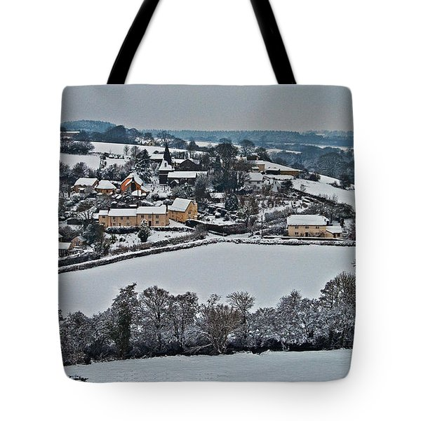 East Worlington In The Snow  Tote Bag by Rob Hawkins