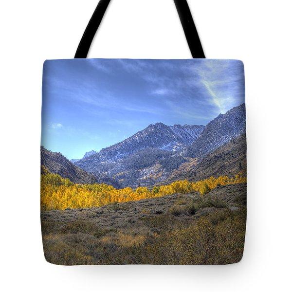 Eastern Sierras In Fall Tote Bag by Michele Cornelius